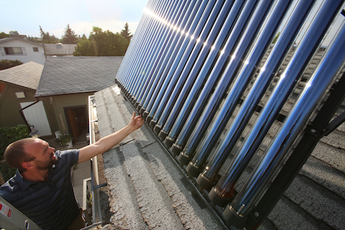 Rob Avis Solar Heating System