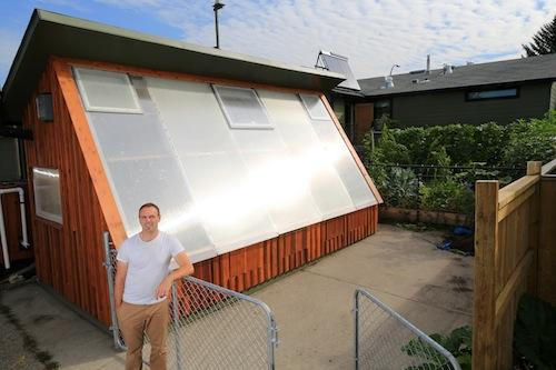 Solar Greenhouse Glazing