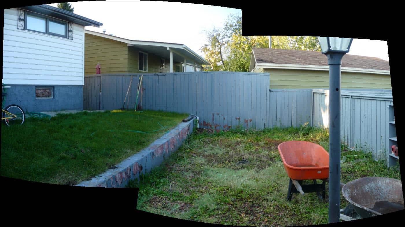 Back yard - BEFORE