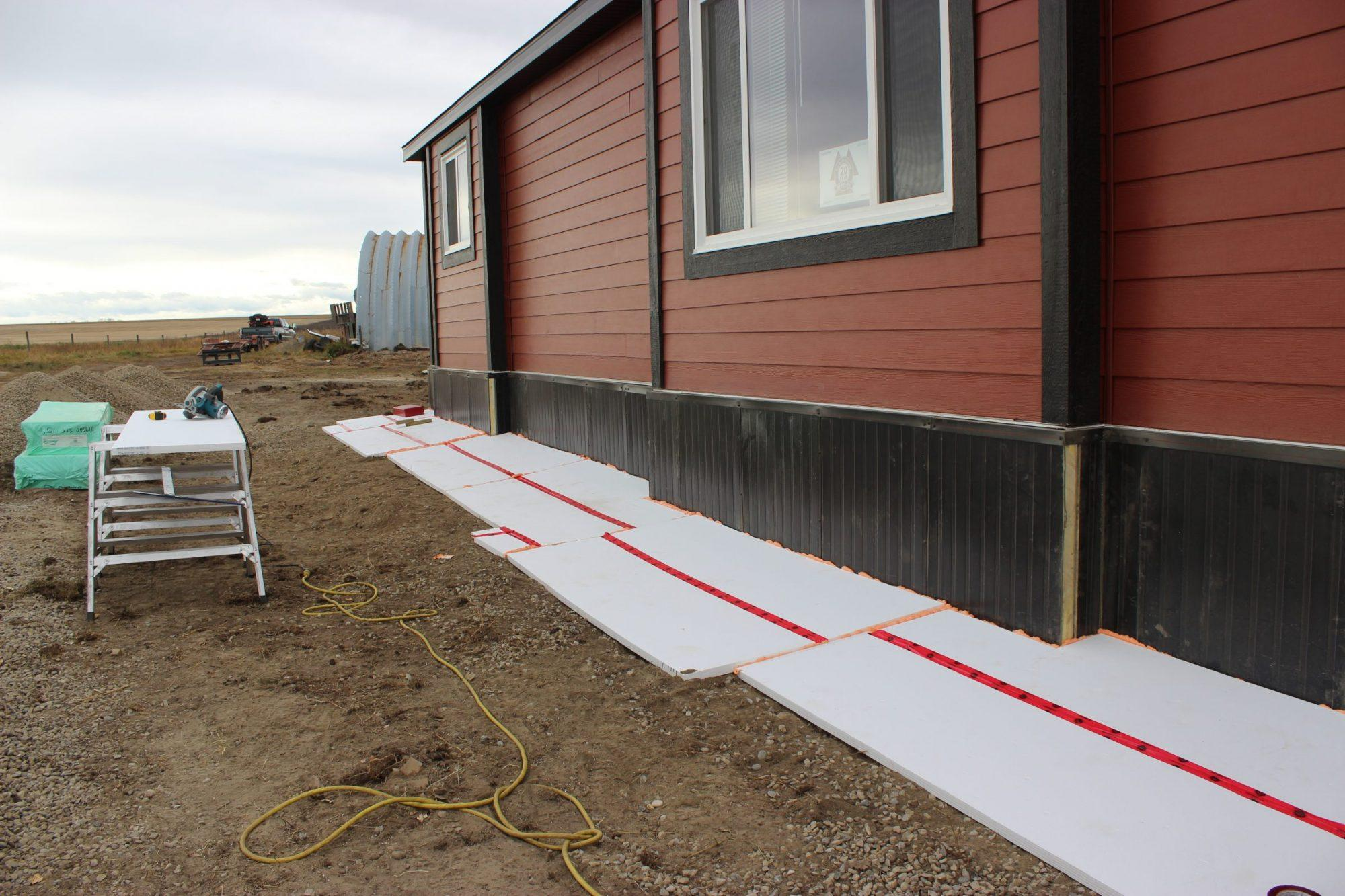Horizontal Projected Insulated Foundation
