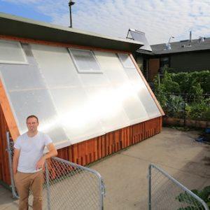 Solar Greenhouse Glazing